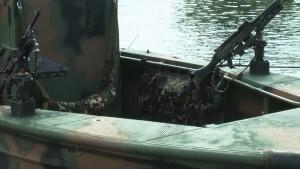 Polsko - amerykański patrol na Pasłęce