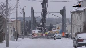 Budowa mostu w Braniewie: Trwa montaż stalowej konstrukcji