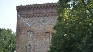 Wieża bramna XIII-wiecznego zamku biskupiego