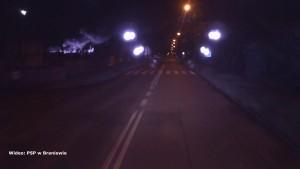 Nocny pożar w Braniewie. Nagranie z akcji gaśniczej