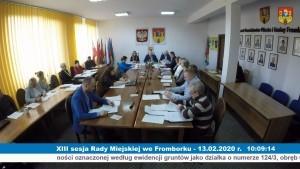 XIII sesja Rady Miejskiej we Fromborku - 13.02.2020