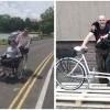 Policjant i jego przyjaciel skonstruowali rower dla niepełnosprawnej Julki