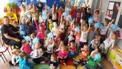 Mundurowi czytali dzieciom