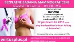 Bezpłatne badania w Braniewie. Przebadaj piersi w mammobusie