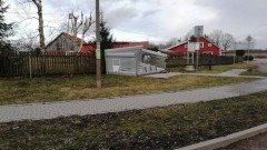 Powiało w powiecie braniewskim. Przewrócone drzewa, uszkodzone wiaty