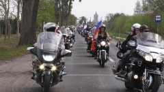 Rosyjscy oficjele i motocykliści oddali hołd czerwonoarmistom