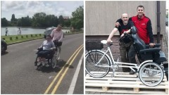 Policjant i jego przyjaciel skonstruowali rower dla niepełnosprawnej…