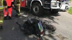 Wypadek pod Braniewem. Audi potrąciło kierującą skuterem