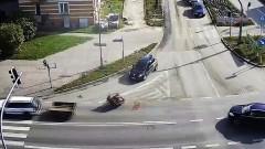 Zgubił betoniarkę. Spadła z przyczepki przed samochodem nauki jazdy