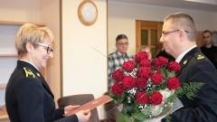 St. ogn. Janina Kamińska po 25 latach służby w straży pożegnała…