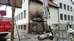 Pożar dachu szkoły w Nowicy