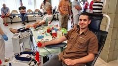 """""""Na straży życia"""". Funkcjonariusze oddali prawie10 litrów krwi"""