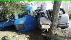 Rogity: Ciągnik rolniczy zderzył się z osobówką