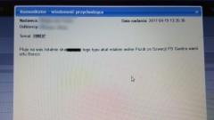 Wulgarna wiadomość na e-dzienniku. Głupi żart gimnazjalisty?