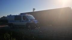 Pociąg towarowy wjechał w lokomotywę. Jedna osoba poszkodowana