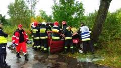 Wpadek w pobliżu Baranówki. Dwie osoby ranne