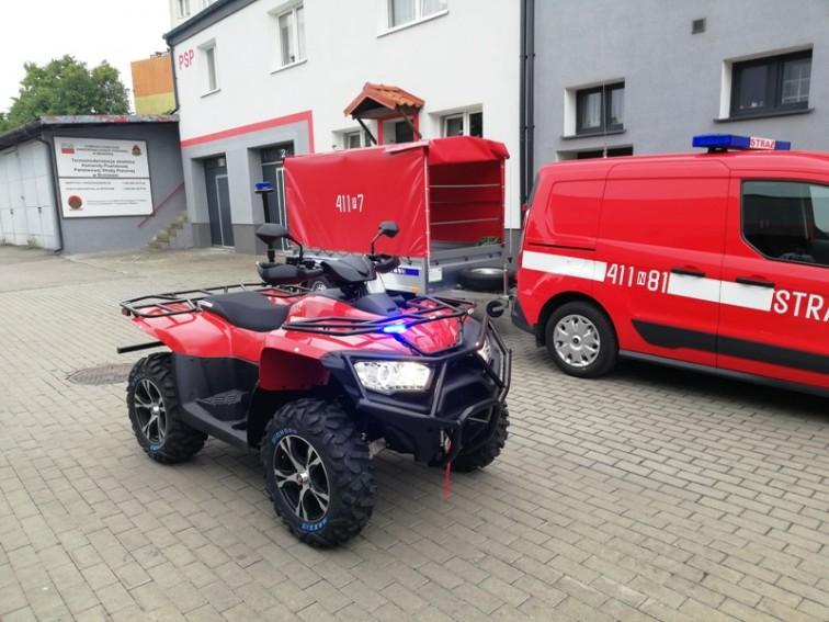 Braniewscy strażacy dostali quada
