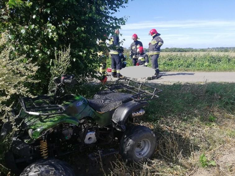 17-latek spadł z quada. Z licznymi obrażeniami trafił do szpitala