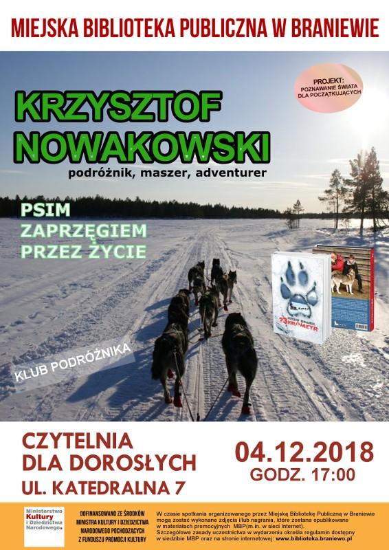 Spotkanie autorskie z Krzysztofem Nowakowskim