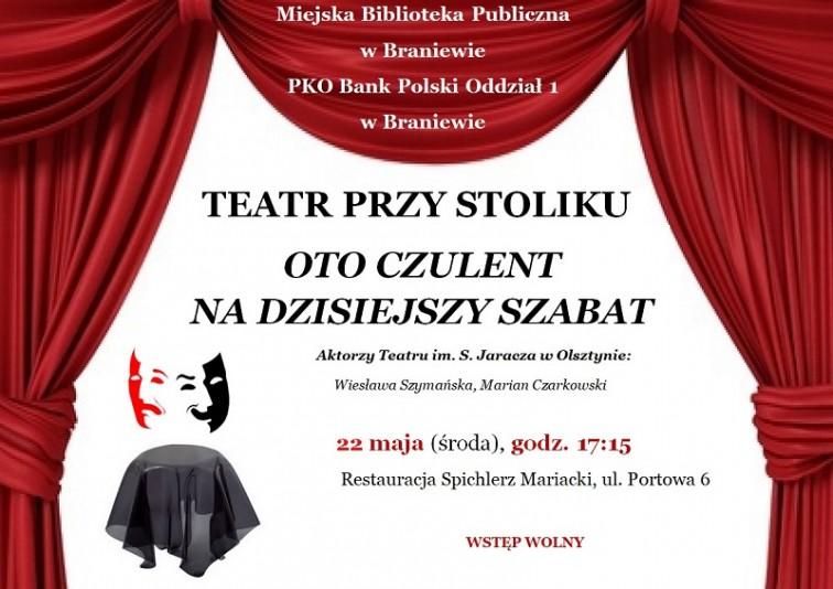 W najbliższą środę Teatr przy Stoliku