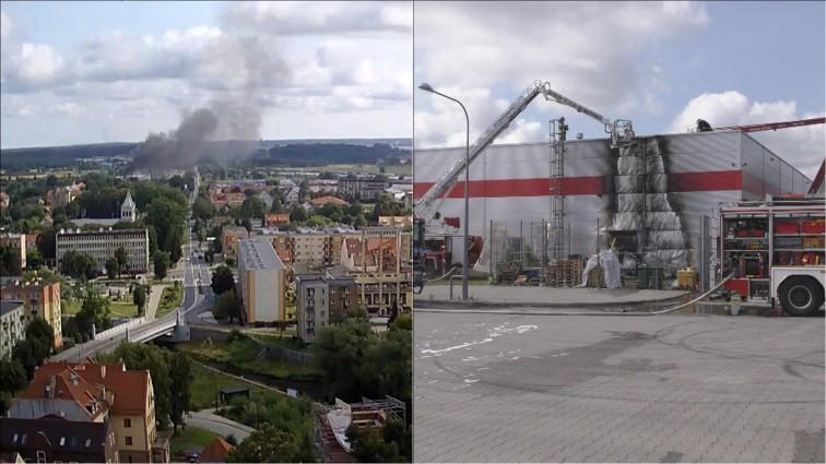 Pożar w Intermarche. Ewakuowano 16 osób