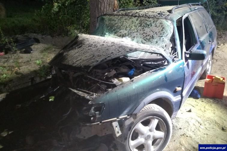 Groźny wypadek pod Braniewem. Kierowca był pijany