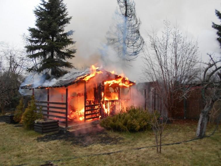 Na terenie ogródków działkowych przy ul. Łąkowej spłonęły trzy altany