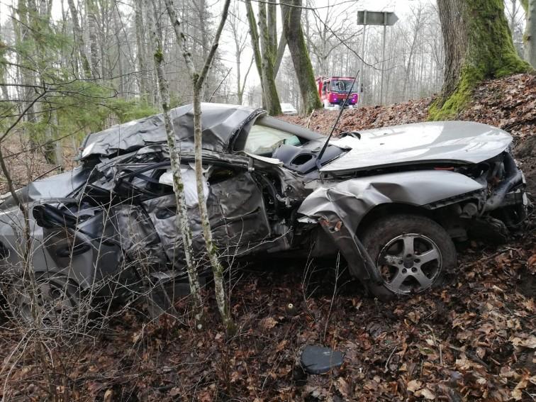 Tragiczny wypadek na drodze Pieniężno - Lelkowo. Nie żyje 37-letni mężczyzna
