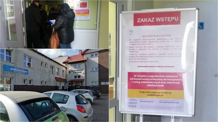 Urząd Skarbowy w Braniewie zamknięty dla petentów