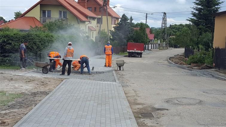 Pieniężno: Trwa przebudowa ulic