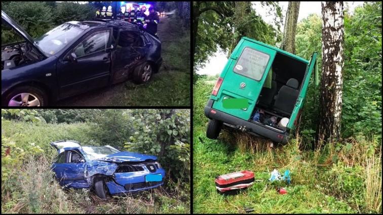 Weekend na drogach: Dwa wypadki, troje rannych