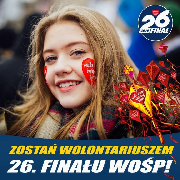 Zostań wolontariuszem 26. Finału WOŚP!