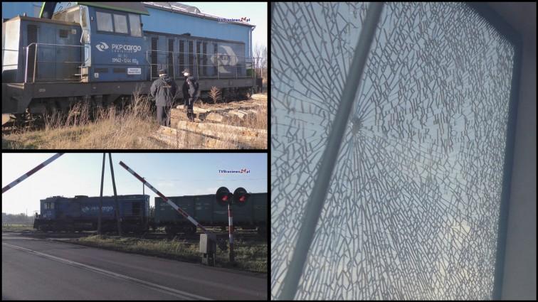 Strzały na przejeździe kolejowym w Braniewie. Ktoś ostrzelał lokomotywę