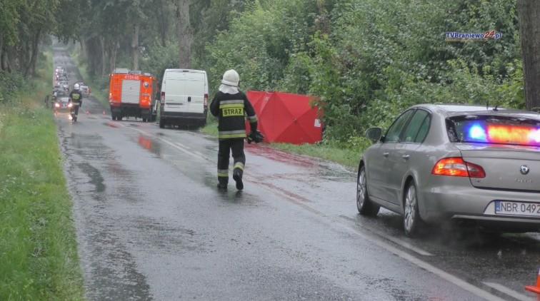 Tragiczny wypadek pod Narusą. Rowerzystka zginęła pod kołami busa