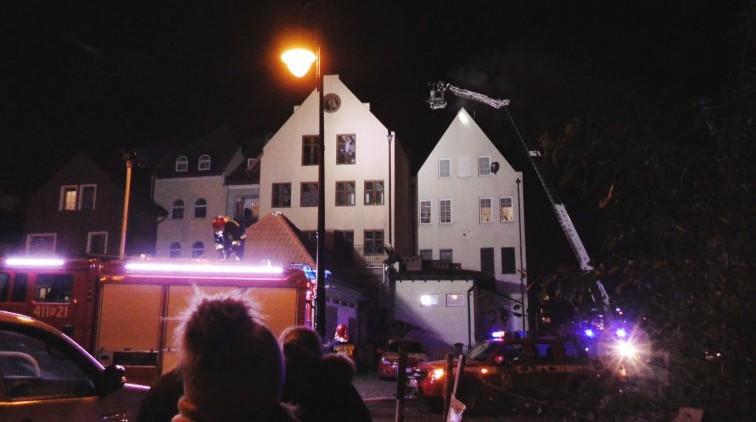 Pożar kamienicy w Braniewie. Błyskawiczna akcja strażaków