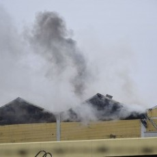 Pożar browaru w Braniewie