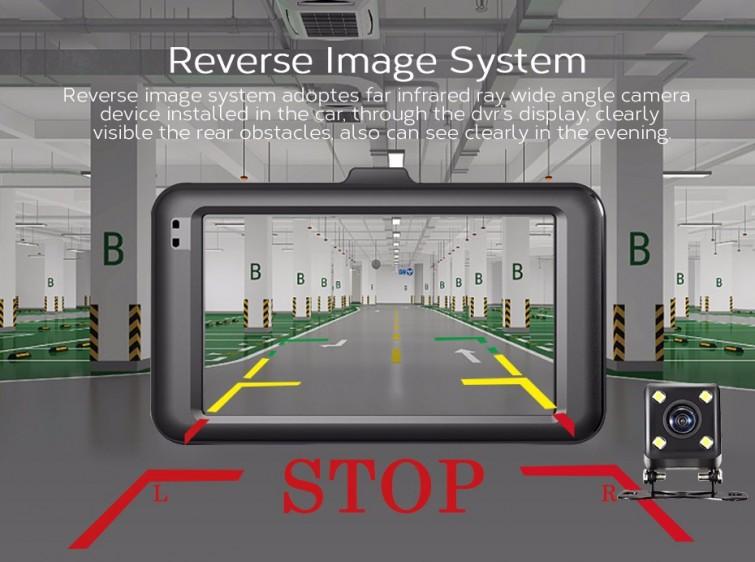 Rejestrator samochodowy OnCam z dwiema kamerkami - NOWY