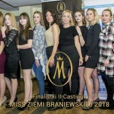 Finalistki II castingu do konkursu Miss Ziemi Braniewskiej 2018